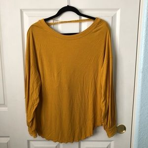 Free People Tops - Free people shimmy shake yellow gold long sleeve